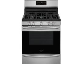 Frigidaire Gallery 30'' 5.0 cu. ft. Freestanding Gas Range with Steam Clean in Stainless Steel GCRG3038AF