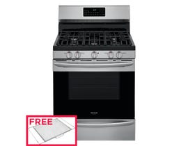 """Frigidaire 30"""" 5.0 cu. ft. Rear Control Gas Range with Air Fry in Stainless Steel GCRG3060AF"""