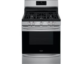 Frigidaire 30 inch 5.0 cu. ft. Gas Range with Air Fry in Stainless Steel GCRG3060AF