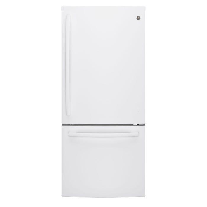 GE 30 inch 20.9cu.ft. Bottom Mount Refrigerator in white GDE21DGKWW