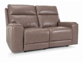 Marzilli  Genova Series Leather Power Reclining Loveseat in Mushroom