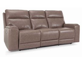 Marzilli  Genova Series Leather Power Reclining Sofa in Mushroom