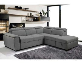 PR Furniture Gerrardo Series 3PC Sectional in Linen Ash 4693