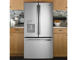 GE 36 inch 25.5 Cu.Ft. Bottom Mount French Door Refrigerator GFE26JSMSS
