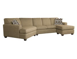 Decor-Rest LHF sectional with RHF chaise in Giorgio Wood/Ryan Wood 2805