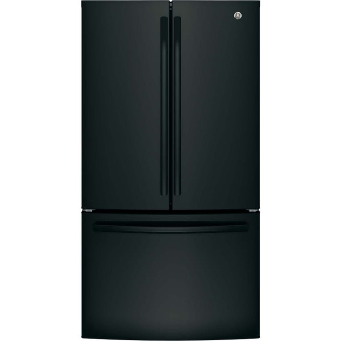 GE 36 inch 26.7 cu.ft. Bottom Mount French Door Refrigerator in stainless steel GNE27JGMBB