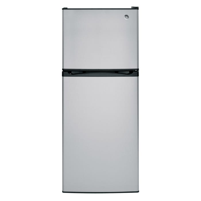 GE 24 inch 11.55 cu.ft. Top Mount RefrigeratorNo Frostin stainless steel GPE12FSKSB