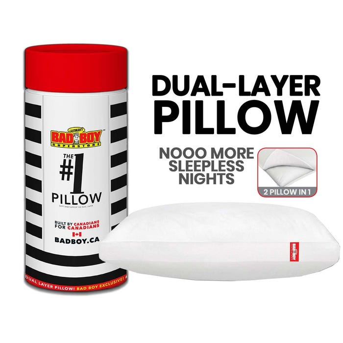 Bad Boy Exclusive #1 Pillow (Queen Size) in White