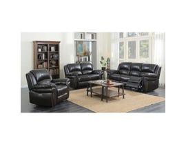 High Society Grand Slam power recline and power headrest 3-piece reclining sofa set in Armando espresso brown UGS1313