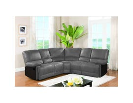 Quartz Series Reclining Sectional in Grey 5620