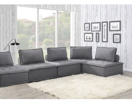 High Society Paxton Collection 5Pc Armless Chairs in Charcoal