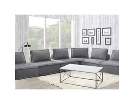 High Society Paxton Collection 6Pc Armless Chairs in Charcoal