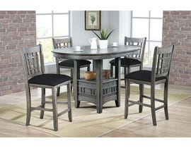 Hommax Furniture Stacy Series Counter Height Dining Set in Grey HM4260