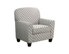 A-Class Fabric Accent Chair in Pattern Grey 420