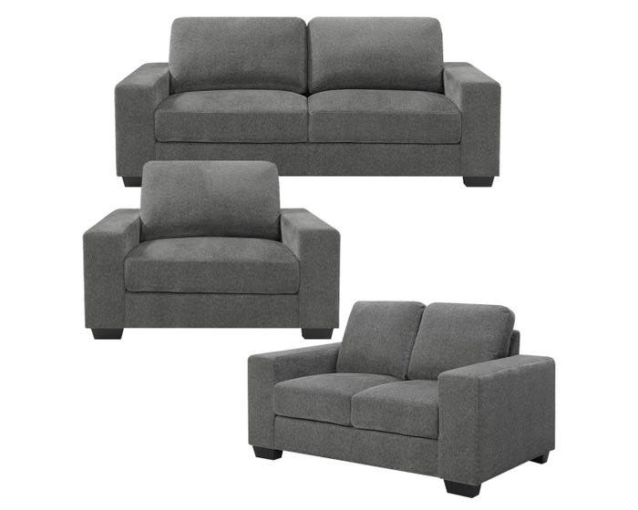 Excellent Lifestyle Charlestown Collection 3 Piece Fabric Sofa Set In Grey J0993 Unemploymentrelief Wooden Chair Designs For Living Room Unemploymentrelieforg