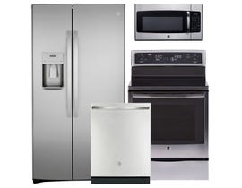 GE 3pc Appliance Package in Stainless Steel 117835 102385 124451