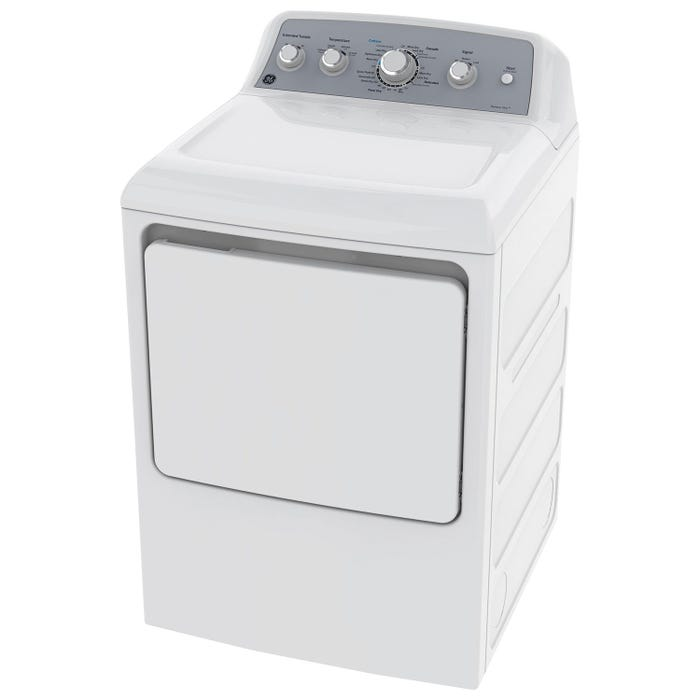 GE 7.2 cu ft.capacity Gas dryer in White GTD45GBMKWS (white)