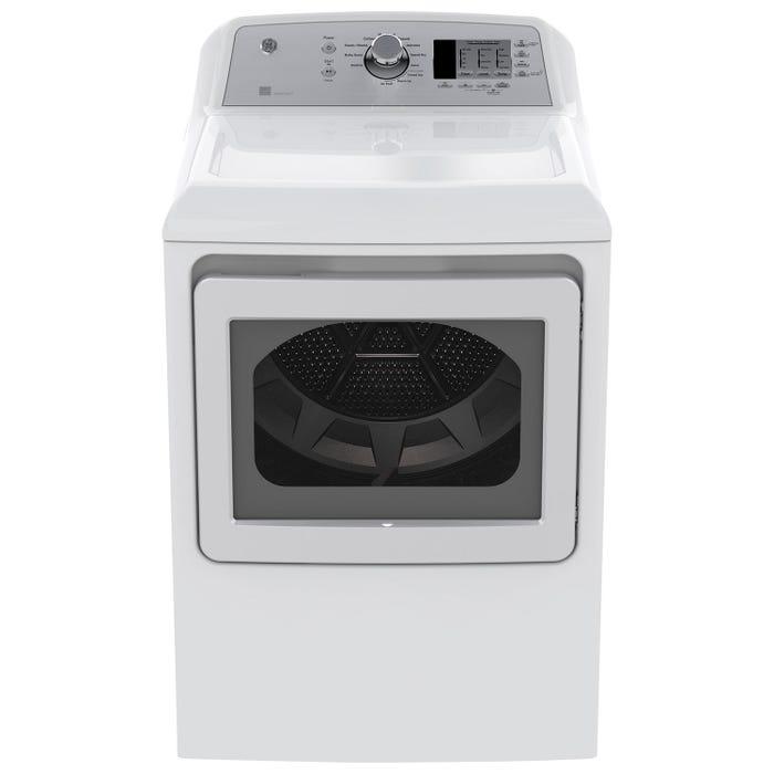 GE 7.4 cu ft.capacity gas dryer with Sensor Dry in White GTD65GBMKWS