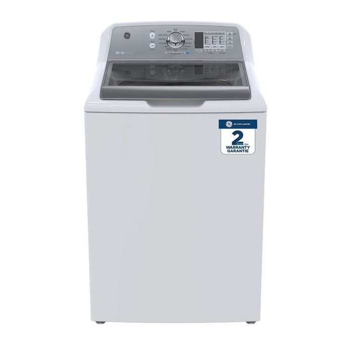 GE 5.3(IEC) cu. ft. stainless steel capacity top load washer in white GTW680BMMWS