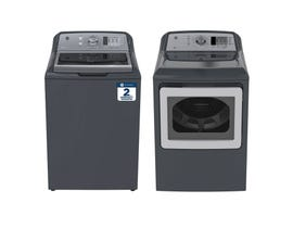 GE Laundry Pair 5.3 cu. ft. Washer GTW680BMMDG & 7.4 cu. ft. Electric Dryer in Diamond Grey GTD65EBMKDG