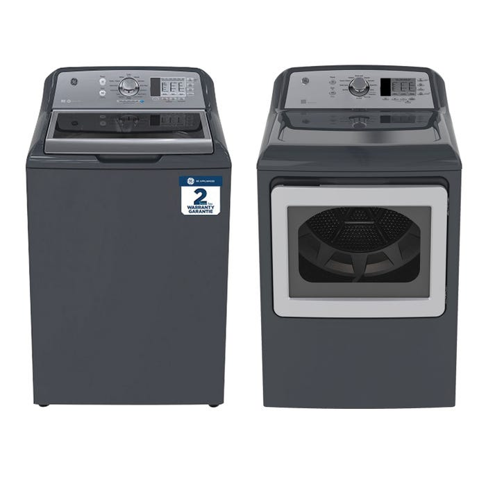 GE Top Load Laundry Pair GTW680BMMDG/GTD65EBMKDG