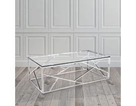 Geo Collection Metal Coffee Table in Silver 2051214