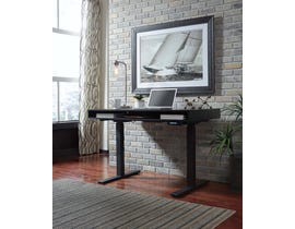 Signature Design by Ashley Laney series Home Office Adjustable Height Desk Black Finish H180-19