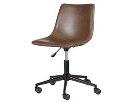 Signature Design by Ashley H200 Home Office Swivel Faux Leather Desk Chair Brown finish H200-01