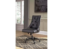 Signature Design by Ashley H200 Home Office Swivel Faux Leather Desk Chair in Black finish H200-03