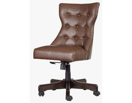 Signature Design by Ashley H200 Home Office Swivel Faux Leather Desk Chair in Brown finish H200-04