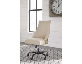 Signature Design by Ashley H200 Home Office Swivel Desk Chair in linen beige finish H200-07