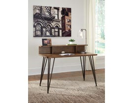 "Signature Design by Ashley Fullinfurst 48"" Home Office Desk and Hutch Medium Brown H374-11"