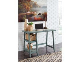 "Signature Design by Ashley Mirimyn 42"" Home Office Desk Teal finish H505-710"