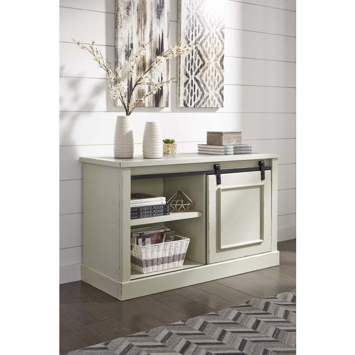 Signature Design by Ashley Jonileene Series home office Cabinet White/Grey Finish H642-40