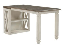 Signature Design by Ashley Bolanburg Series Office Desk with low Bookcase in two-tone beige H647-14-16