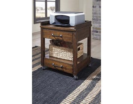 Signature Design by Ashley Printer Stand in Rustic Brown H675-11