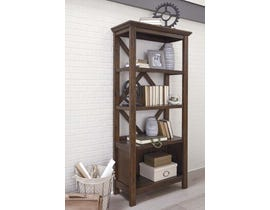 "Signature Design by Ashley 75"" Bookcase in Rustic Brown H675-17"