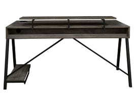 Signature Design by Ashley Barolli Series Gaming Desk in Gunmetal H700-28