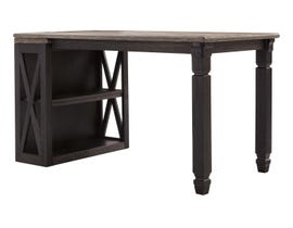 Signature Design by Ashley Tyler Creek Series two-tone Home office desk with medium bookcase in Grayish brown/Black H736-14-16