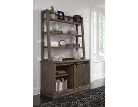 Signature Design by Ashley Luxenford Series Home office large Credenza with desk hutch in Grayish Brown H741-46-49
