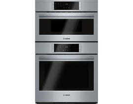 Bosch 30 inch 6.0 cu.ft. True Convection Electric Combination Wall Speed Oven 800 series in stainless steel HBL8752UC