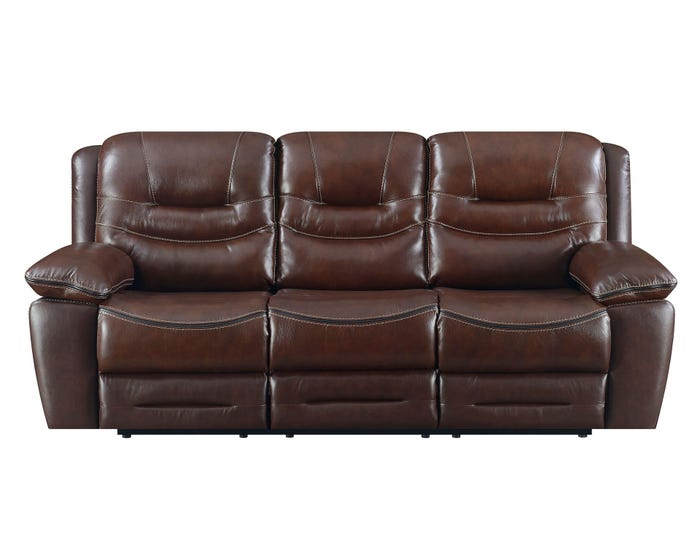 High Society Westchester Collection Leather Power Motion Sofa in Chocolate  UWC1312