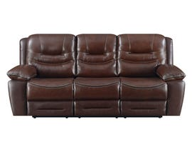 High Society Westchester Collection Leather Power Motion Sofa in Chocolate UWC1312-R-S