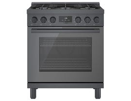 Bosch 30 Inch Industrial Style Dual Fuel Range in Black Stainless Steel HDS8045C