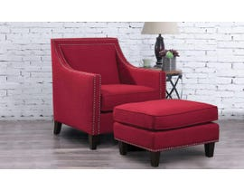 High Society Erica Series Solid-colour Chair w/Ottoman in Berry130984
