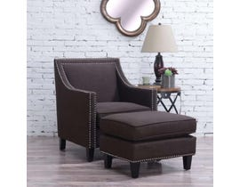 High Society Erica Series Chair w/Ottoman in Charcoal