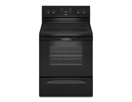 Whirlpool 30 inch 5.3 Cu. Ft. Electric Range Freestanding with 4-Element in Black YWFE510S0HB