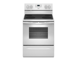 Whirlpool® 5.3 Cu. Ft. Freestanding Electric Range with Easy Wipe Ceramic Glass Cooktop YWFE515S0EW