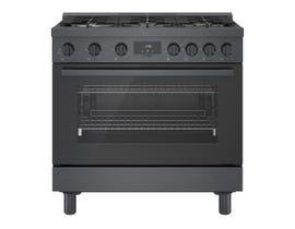 Bosch 36 Inch Industrial Style Gas Range in Black stainless steel HGS8645UC