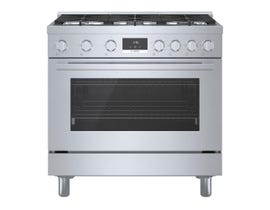 Bosch 36 Inch Industrial Style Gas Range in stainless steel HGS8655UC